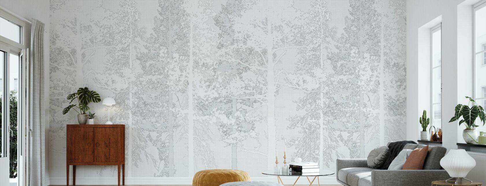 Weaving Wood White - Wallpaper - Living Room