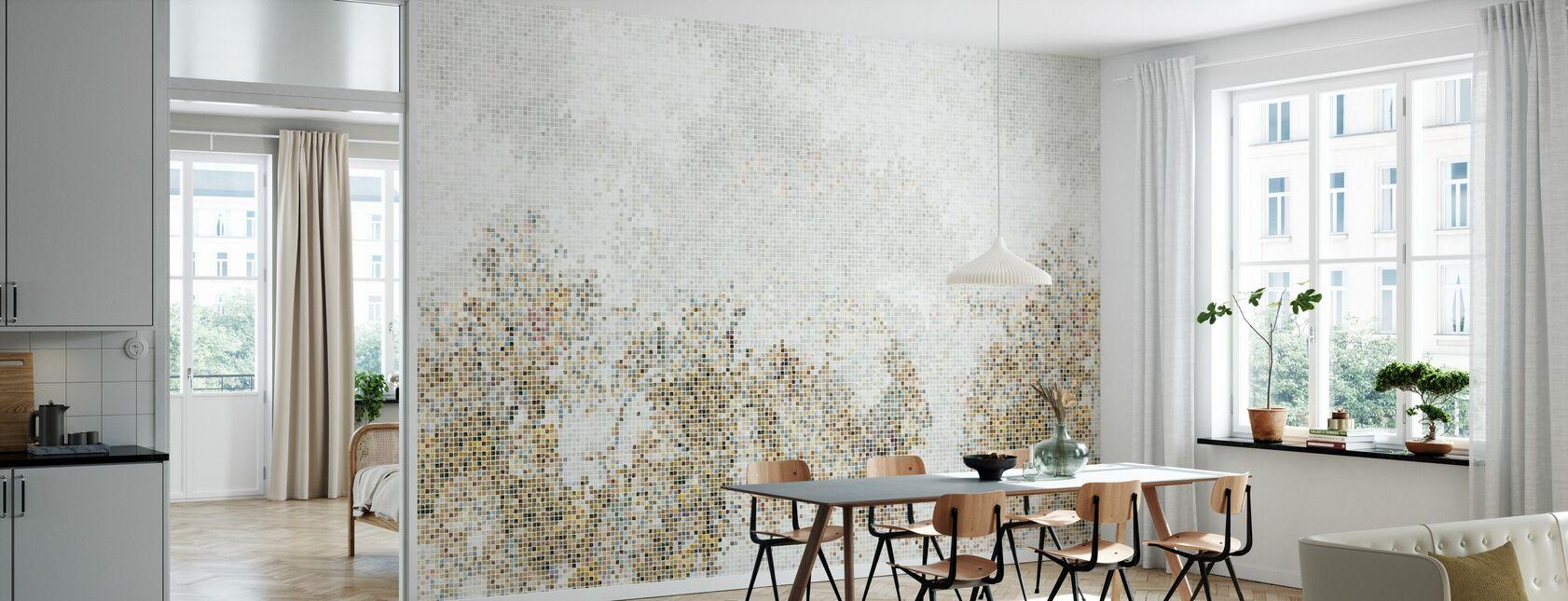 Mosaik Wald - Golden - Tapete - Küchen