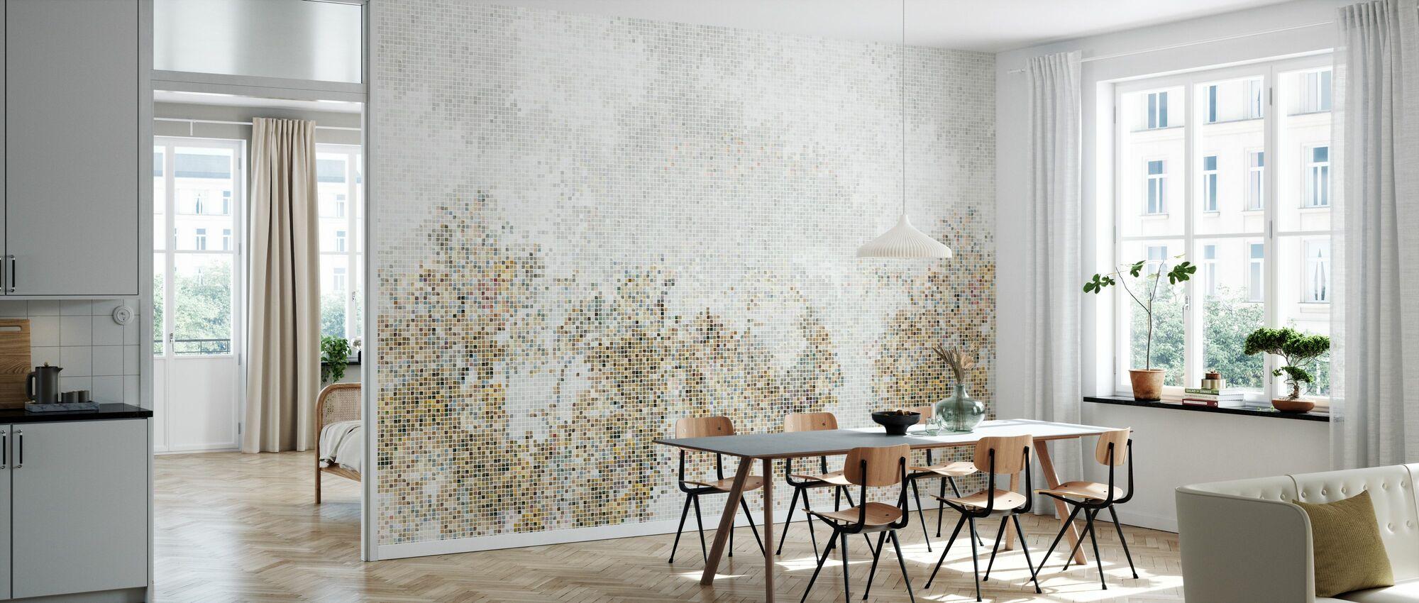 Mosaikk skog - Golden - Tapet - Kjøkken