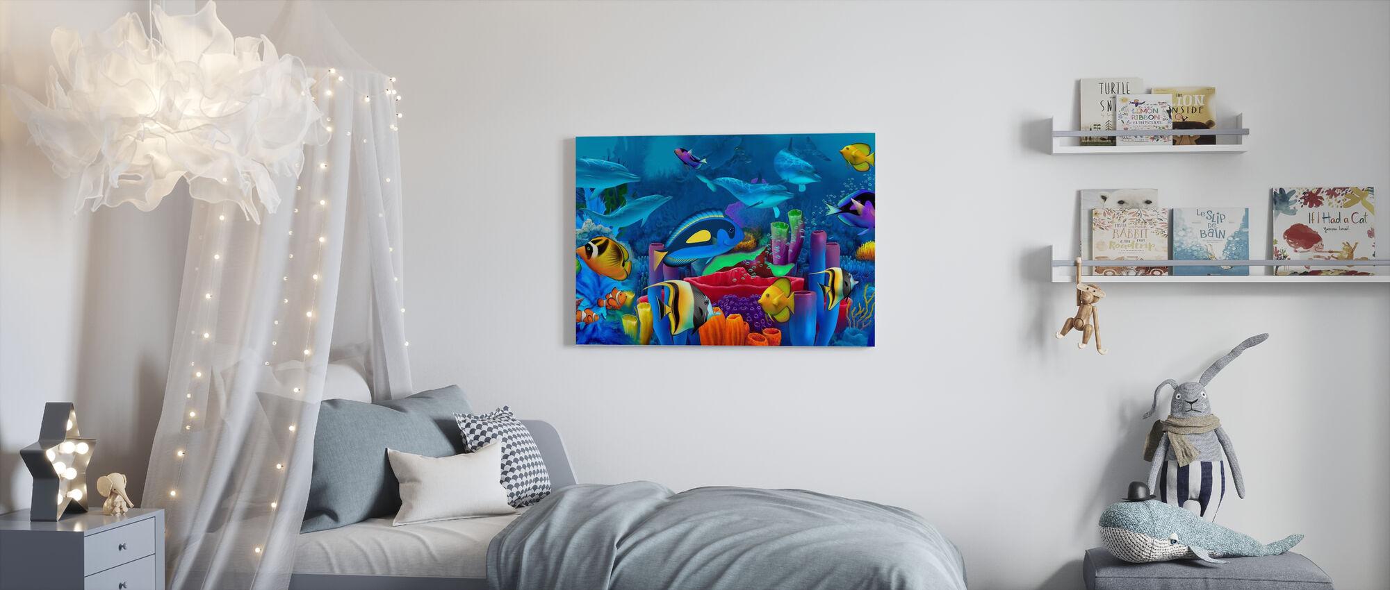 Neptunes Garden - Canvas print - Kids Room