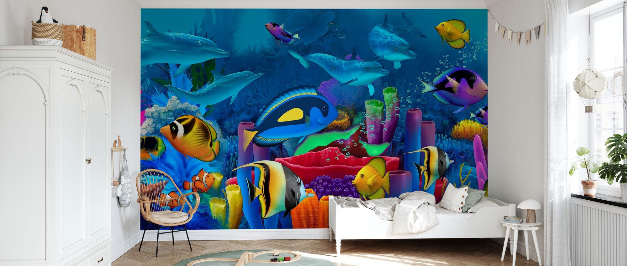 Neptunes Garden - Wallpaper - Kids Room