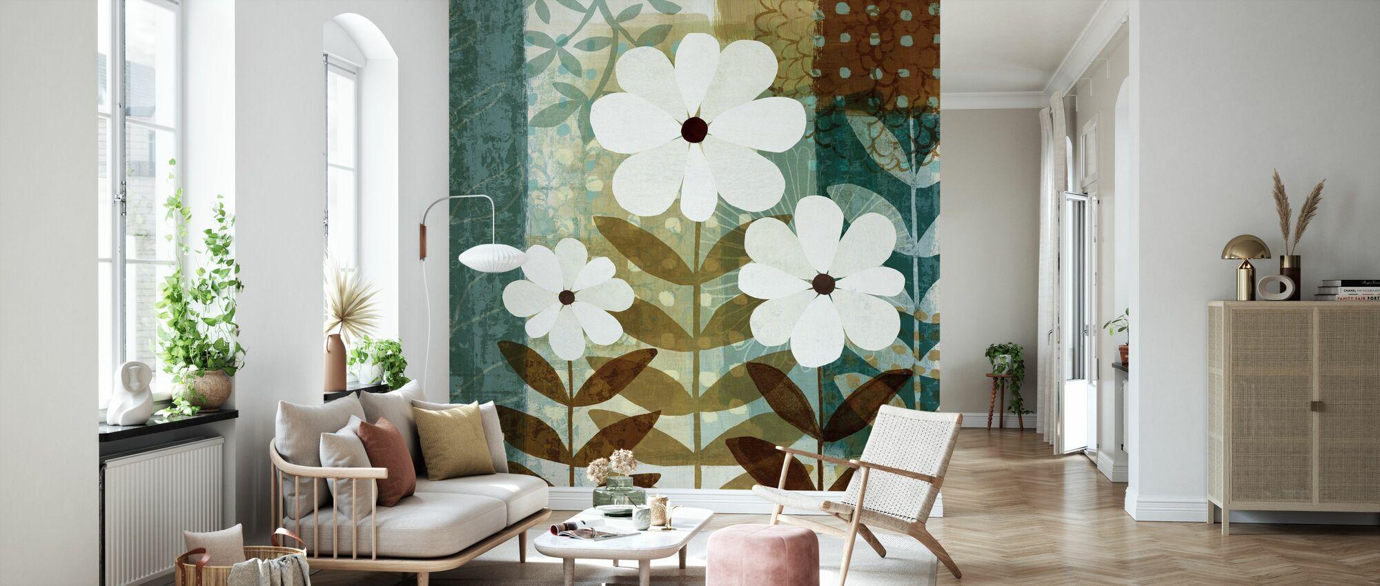 Blommig dröm II - Tapet - Vardagsrum