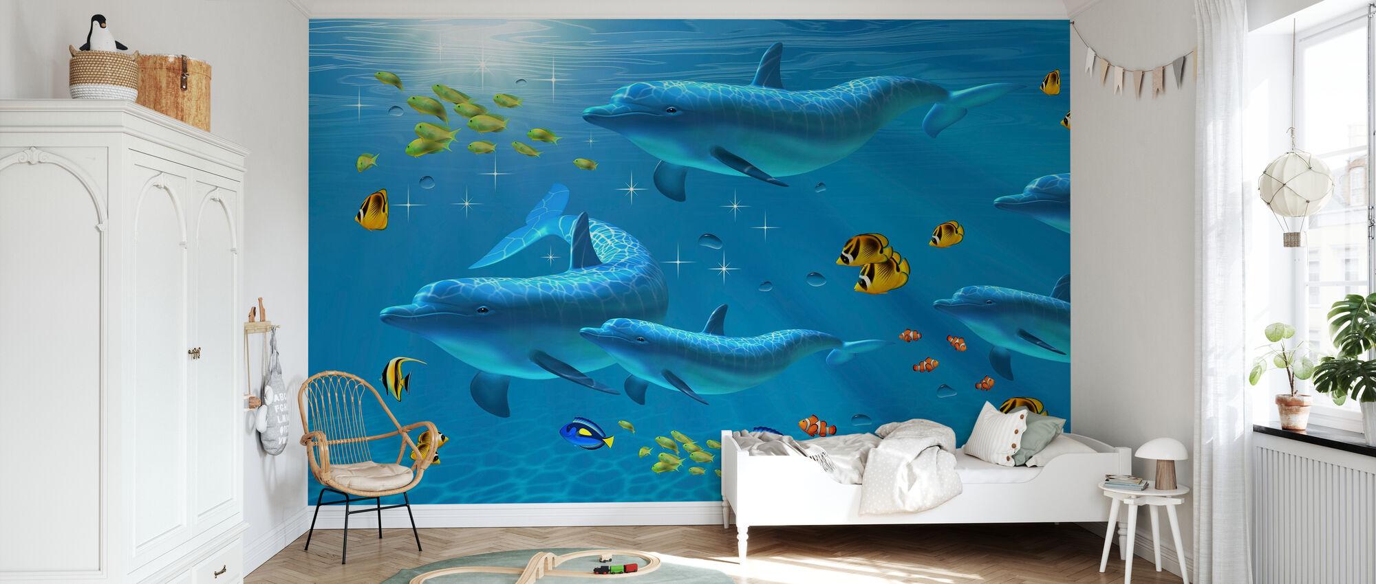 Rainbow of Color - Wallpaper - Kids Room