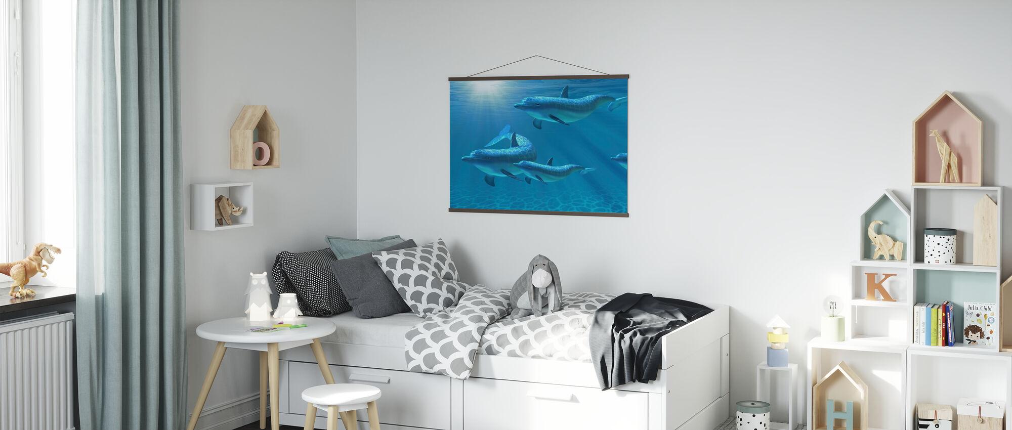 Delfiini Perhe Viiden - Juliste - Lastenhuone