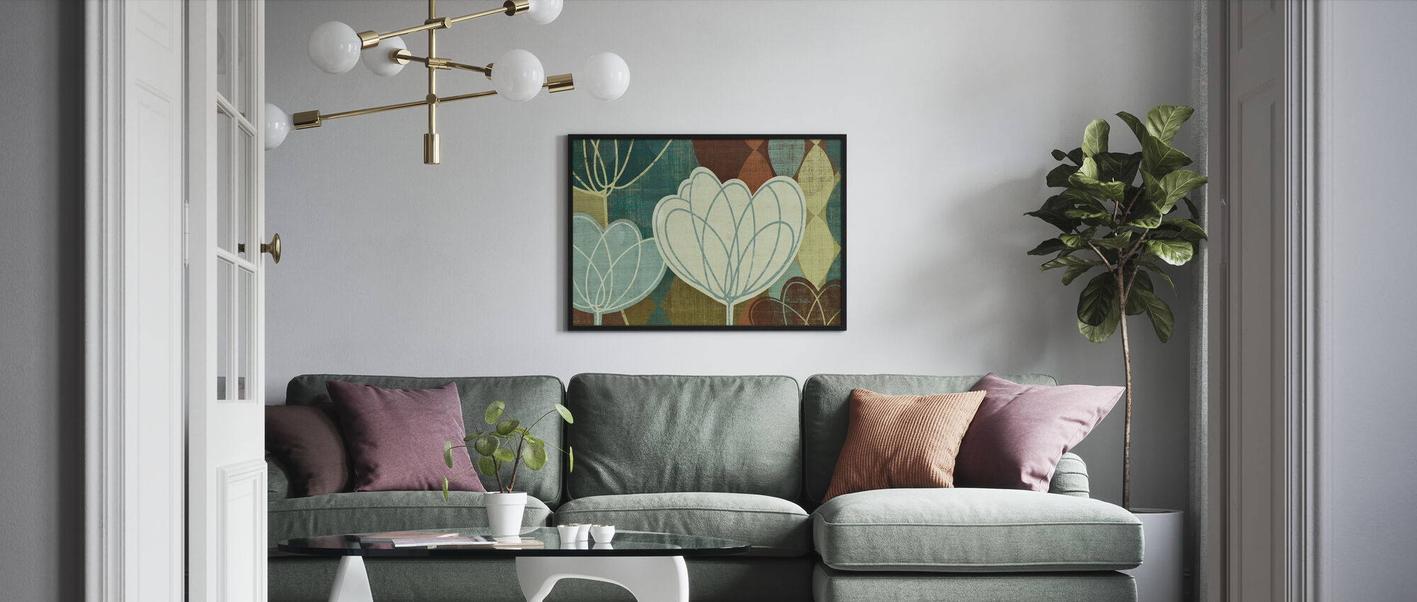 Våren tulpan - Inramad tavla - Vardagsrum