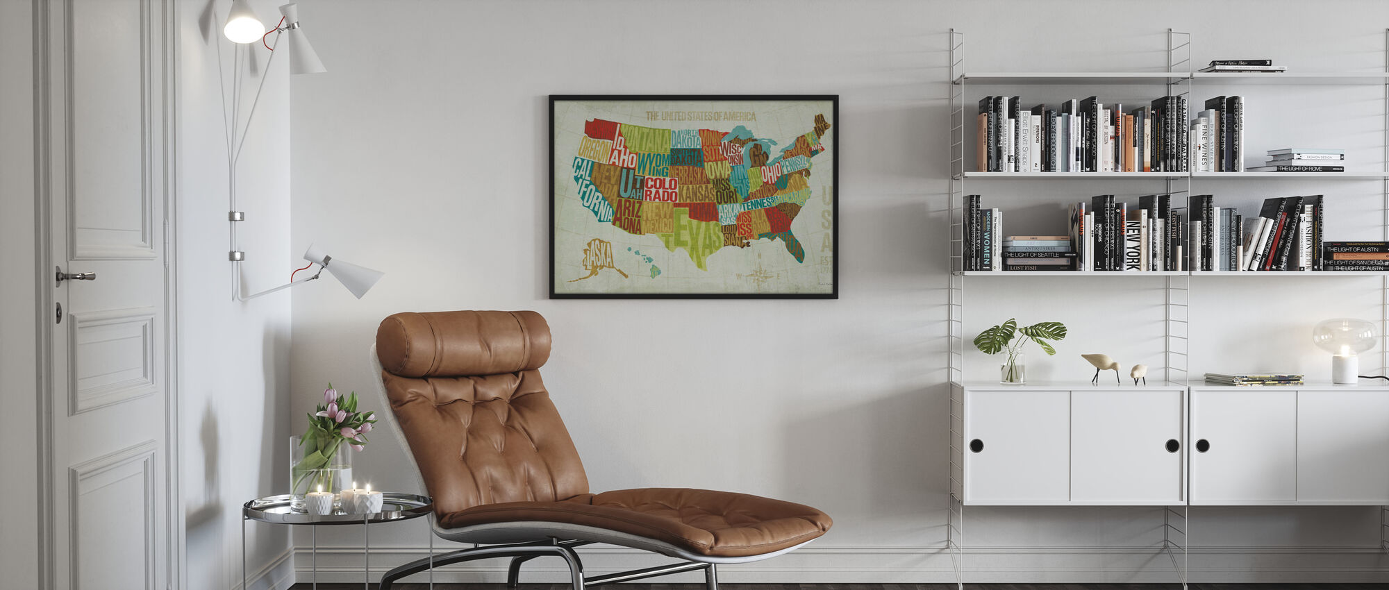 USA Modern - Poster - Living Room