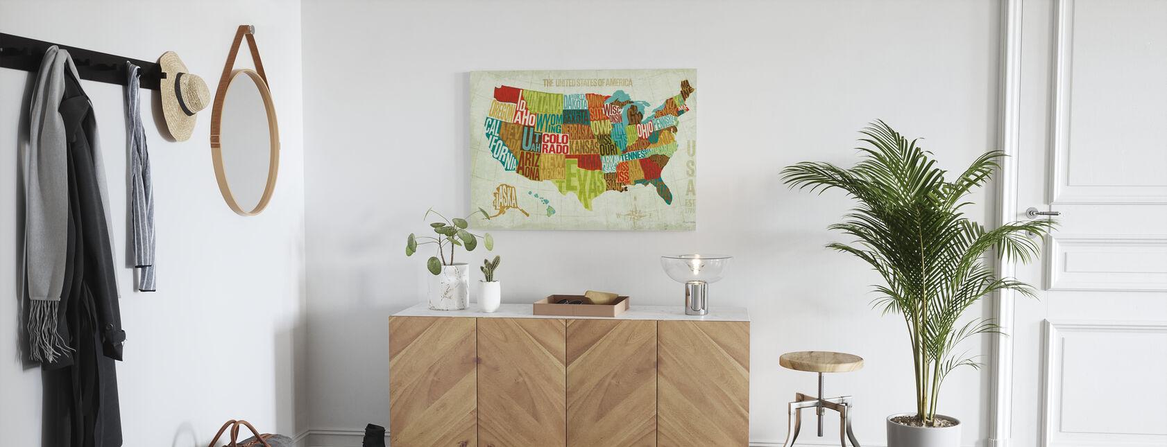 USA Modern - Impression sur toile - Entrée