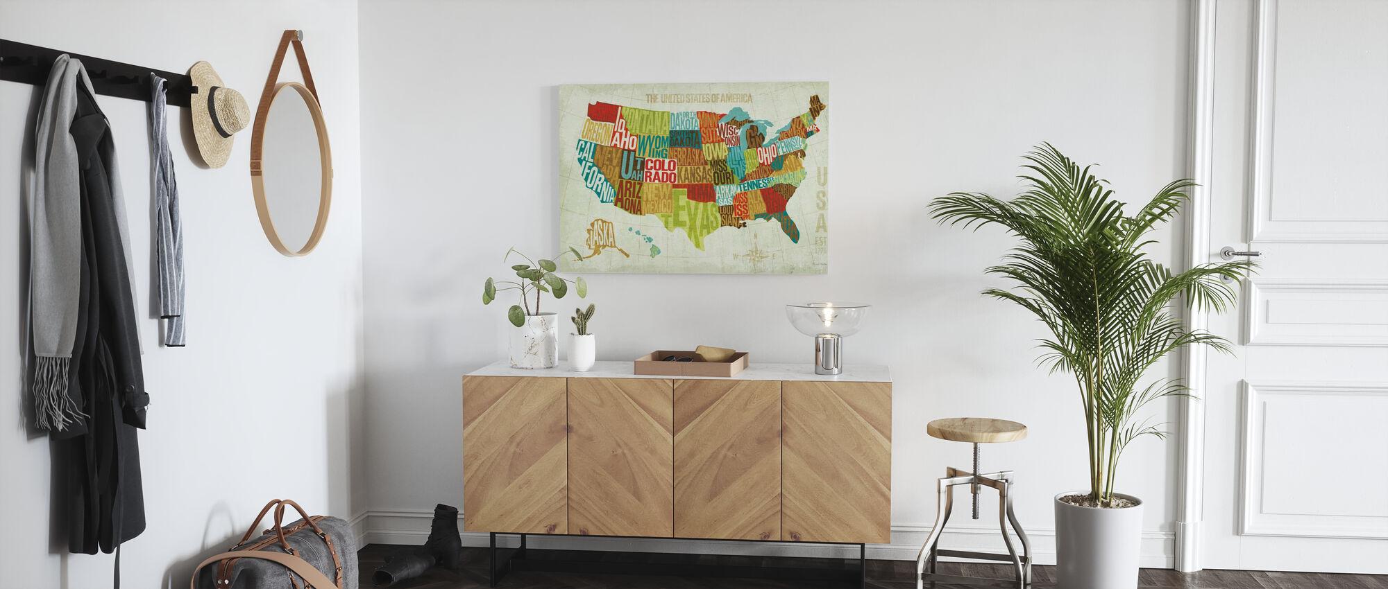 USA Modern - Billede på lærred - Entré