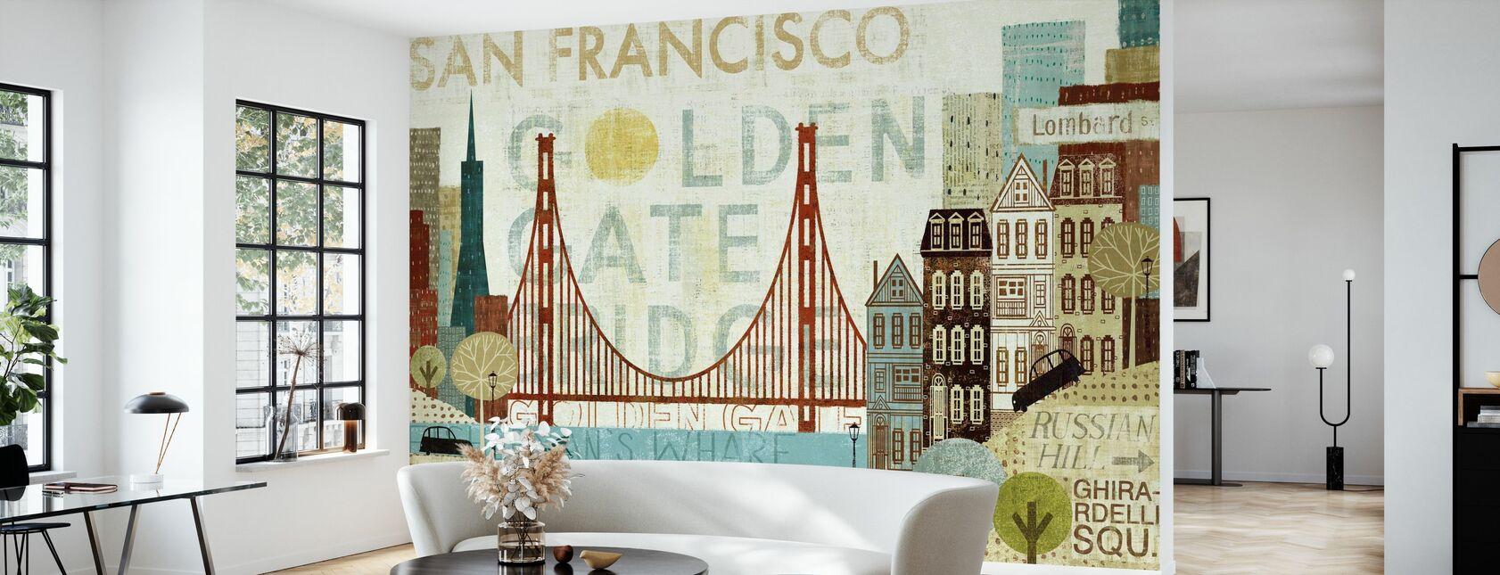 Hola San Francisco - Papel pintado - Salón
