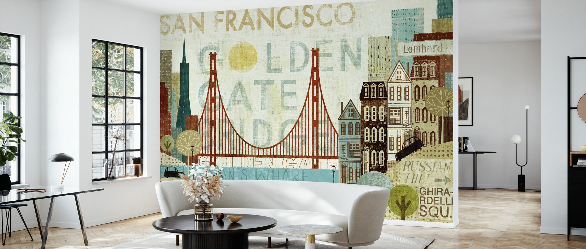 Hey San Francisco - Wallpaper - Living Room