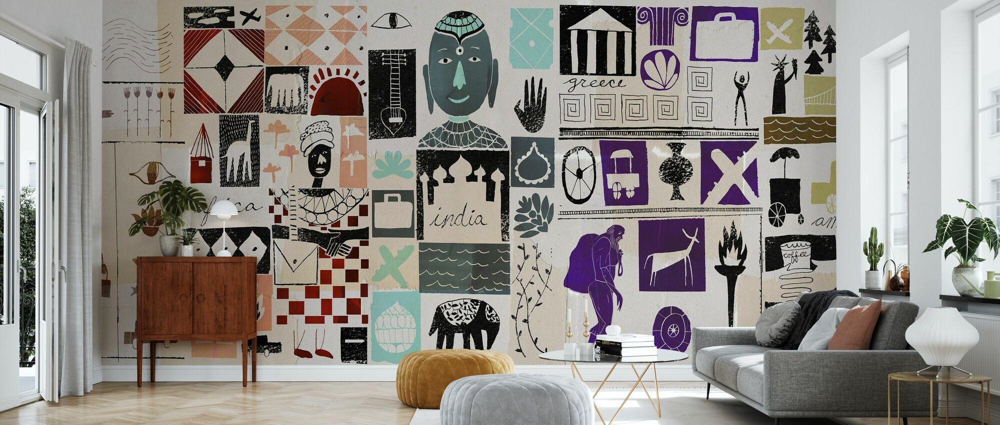 World Travels - Wallpaper - Living Room