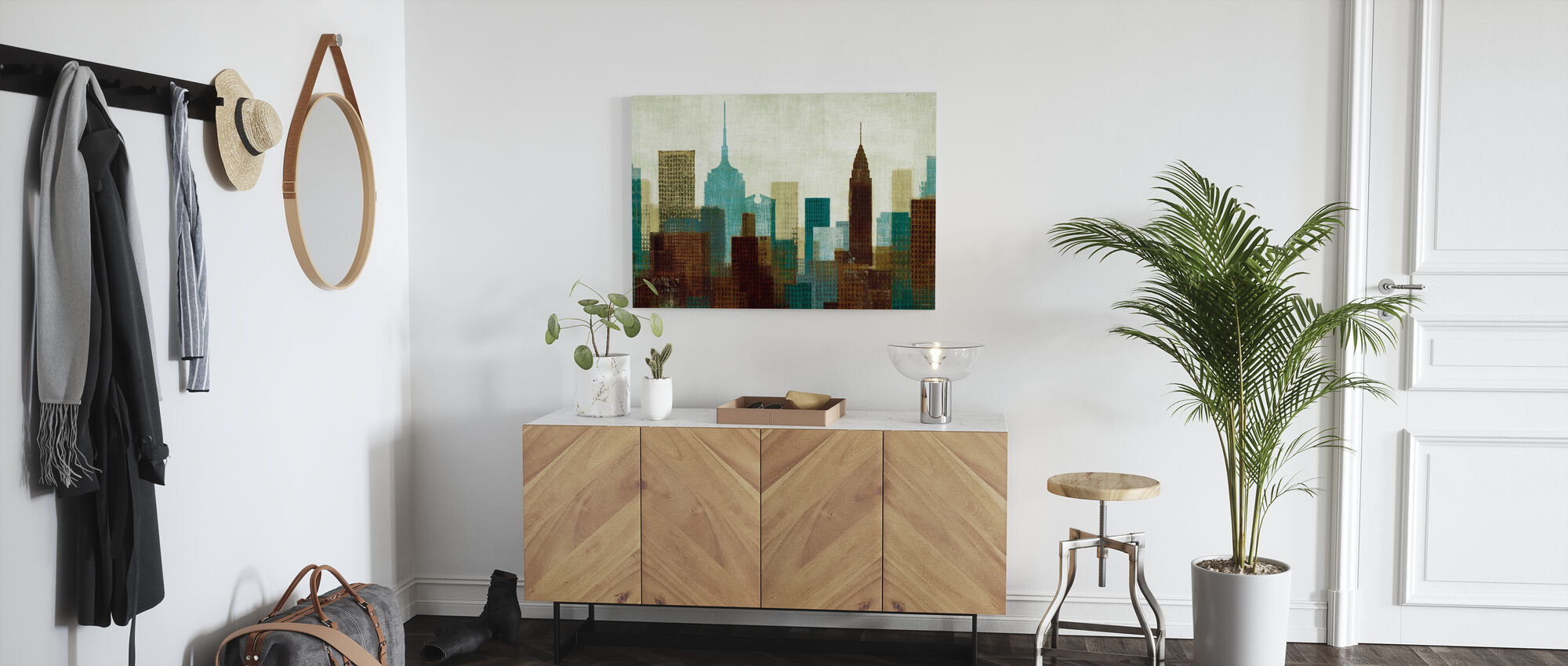Summer in the City I Blue - Canvas print - Hallway