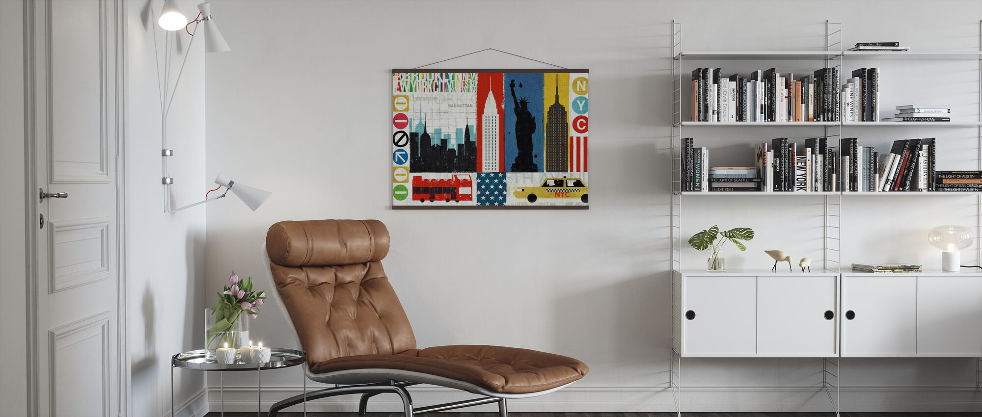 New York City erleben - Poster - Wohnzimmer