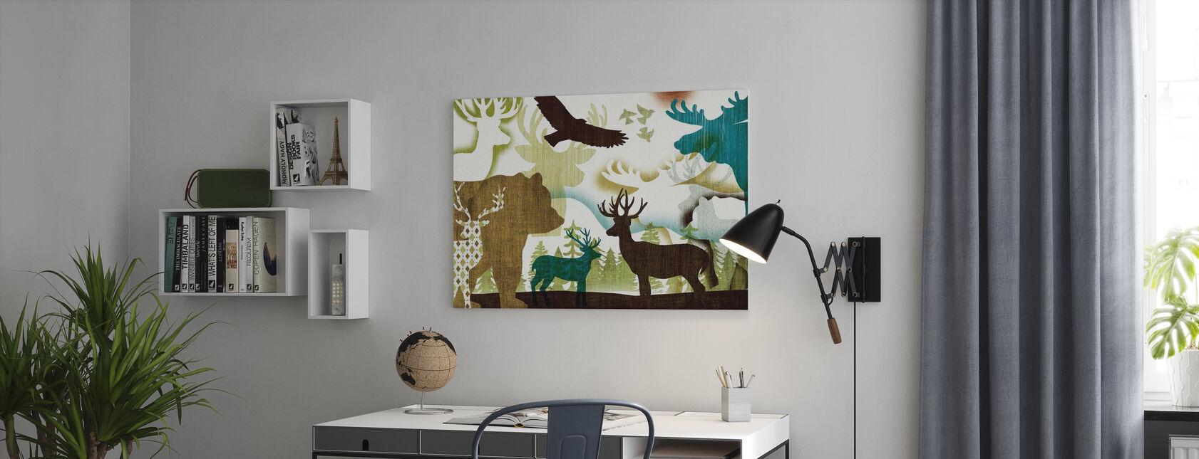 Collage Abitante I - Stampa su tela - Uffici