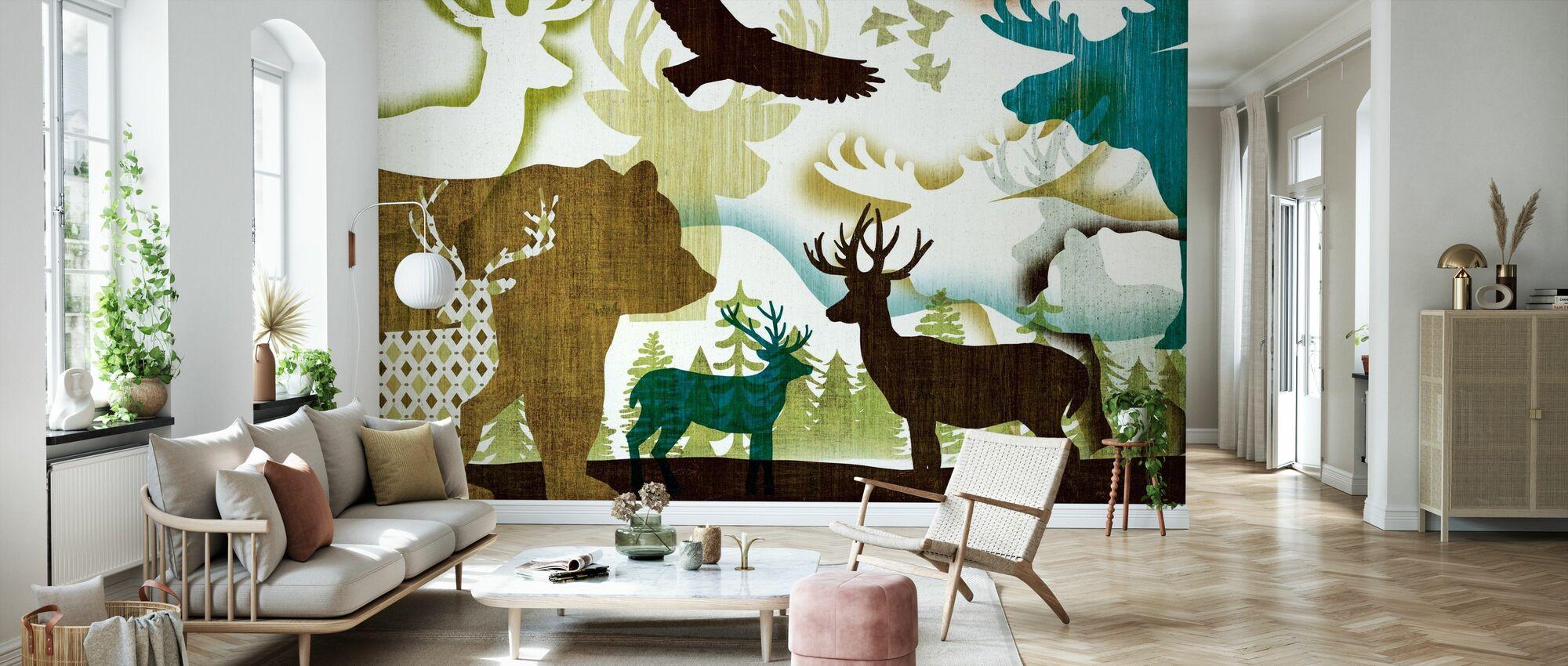 Dweller Collage I - Wallpaper - Living Room