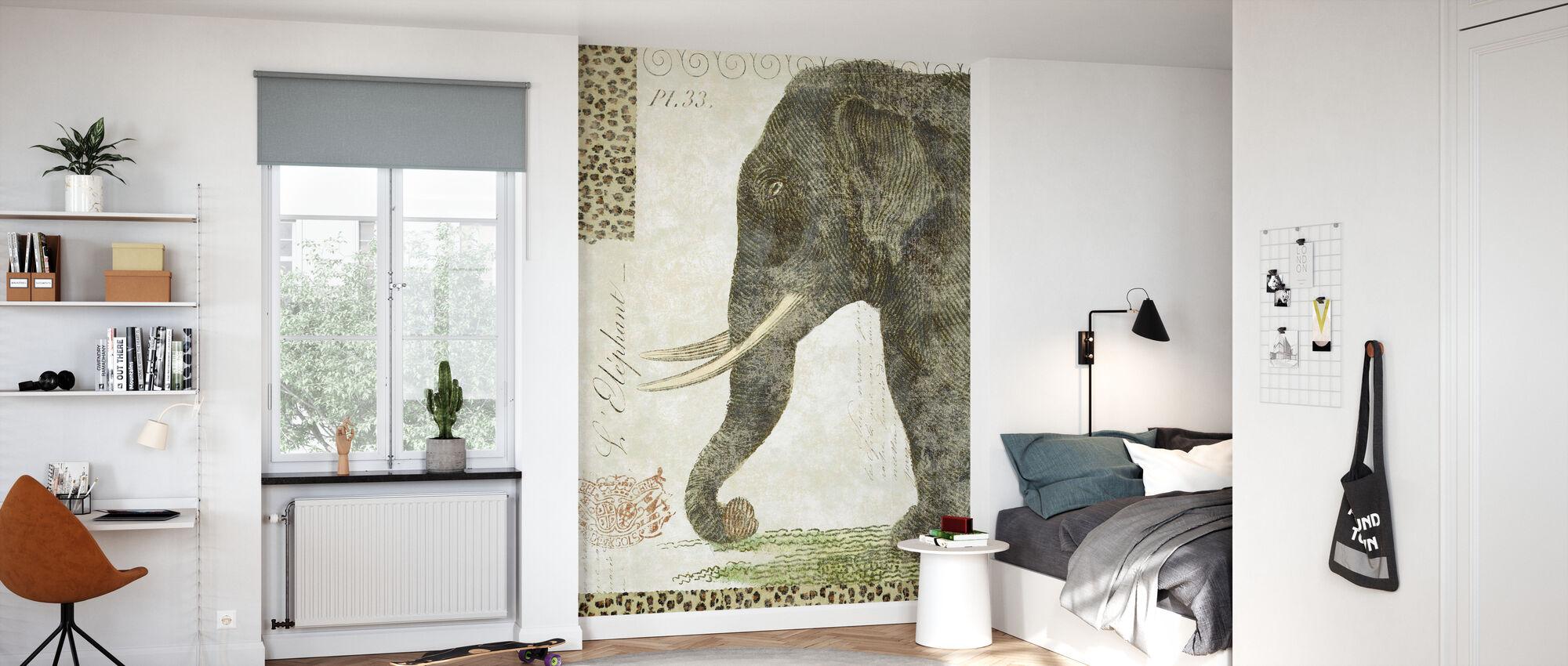 L Elephant - Wallpaper - Kids Room