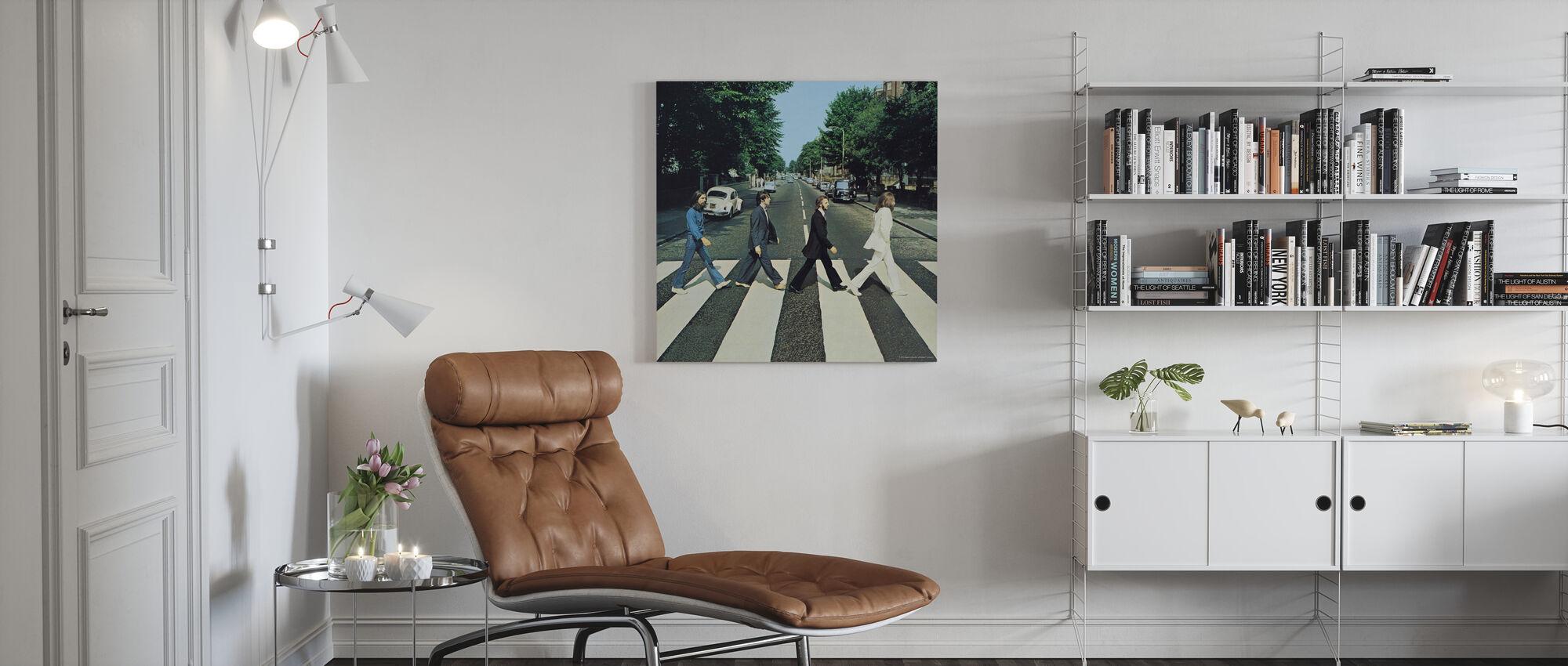Beatles - Abdij Road - Canvas print - Woonkamer