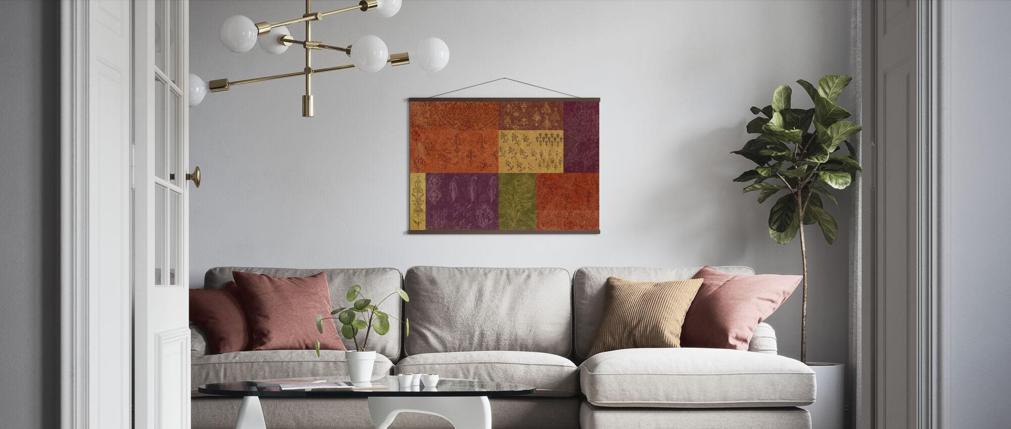 Bohemian Flowers - Poster - Living Room