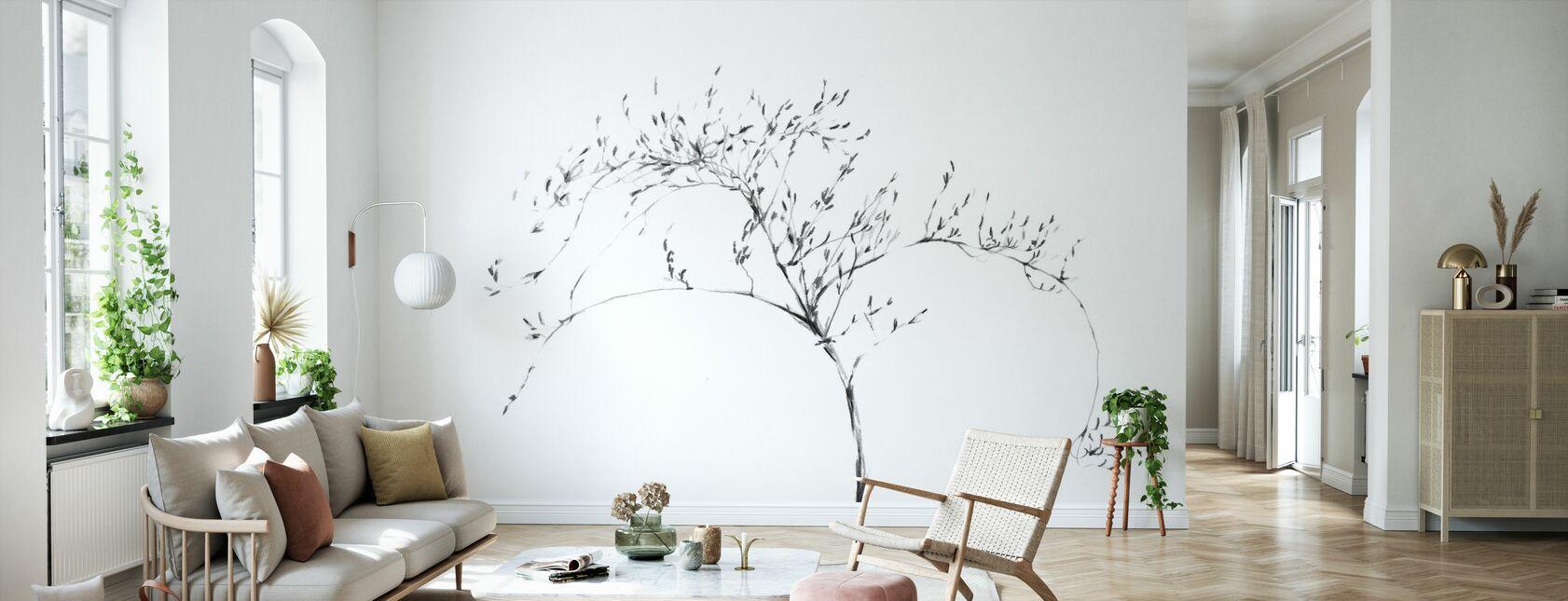 Graphite Twig - Wallpaper - Living Room
