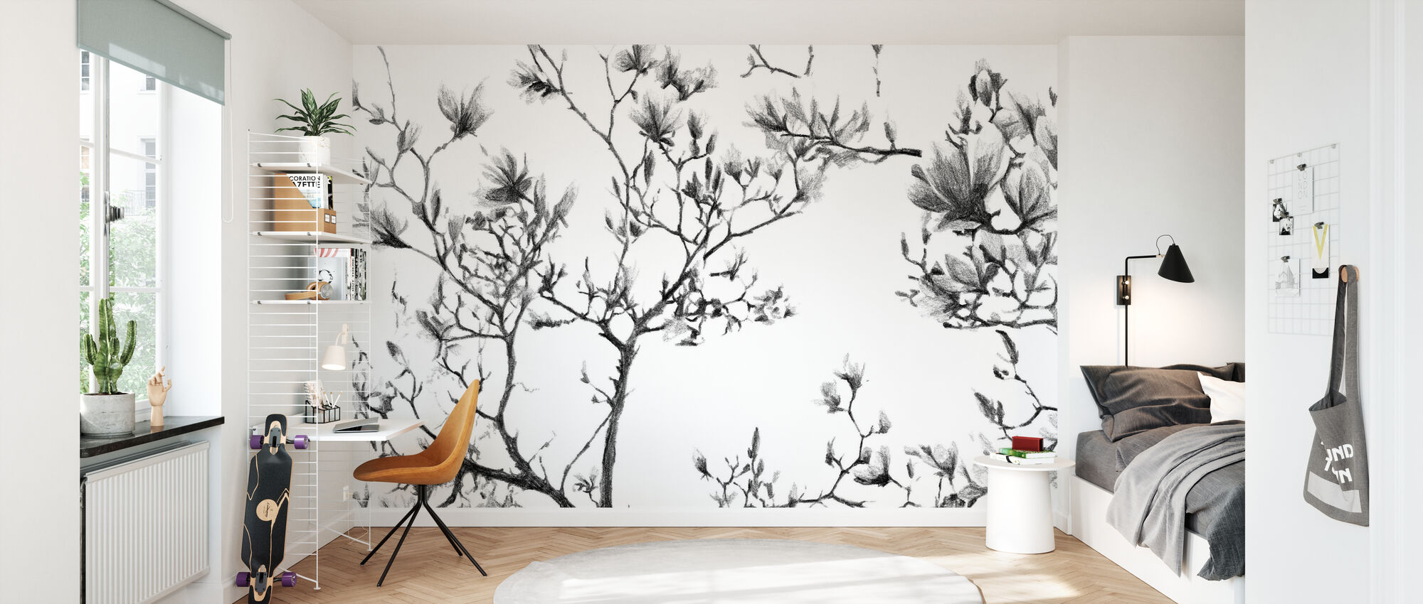 Magnolia Sketch - Wallpaper - Kids Room
