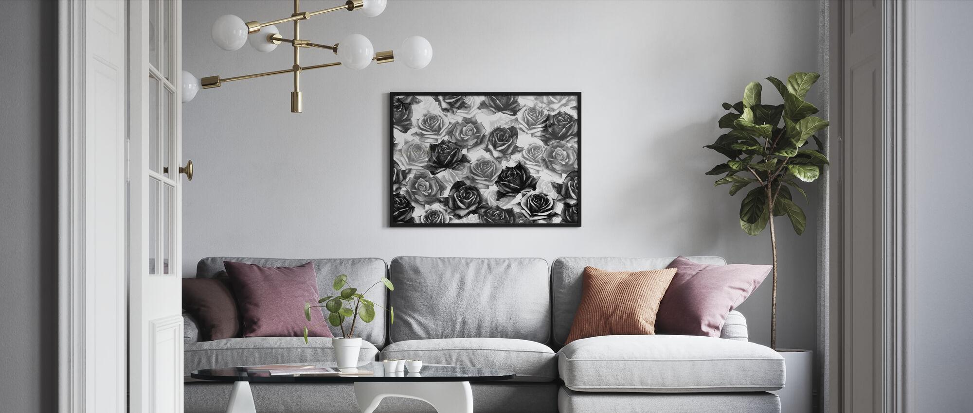 Mina svarta rosor - Poster - Vardagsrum