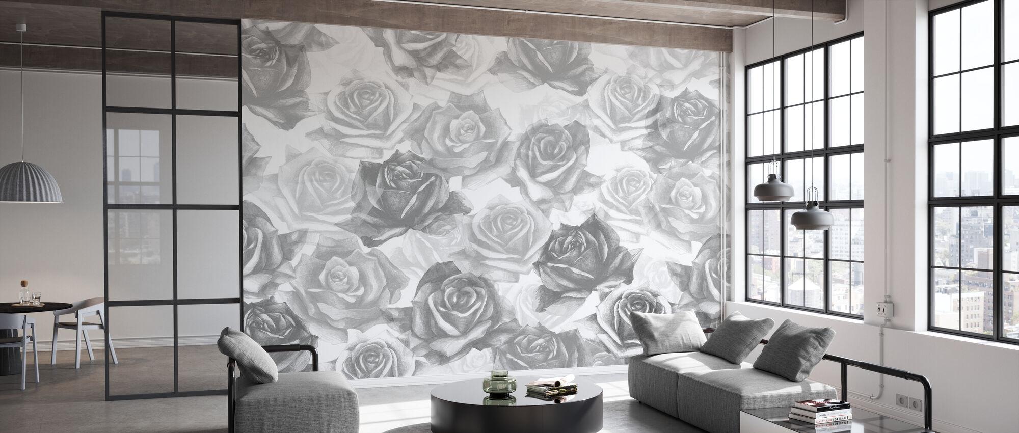 My Grey Roses - Wallpaper - Office