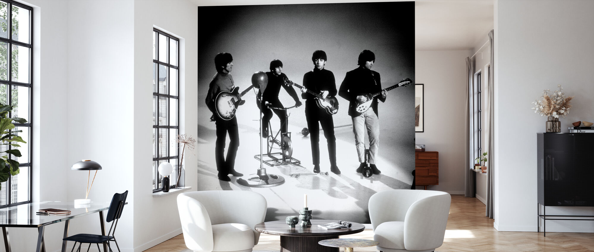The Beatles - Playing - Wallpaper - Living Room