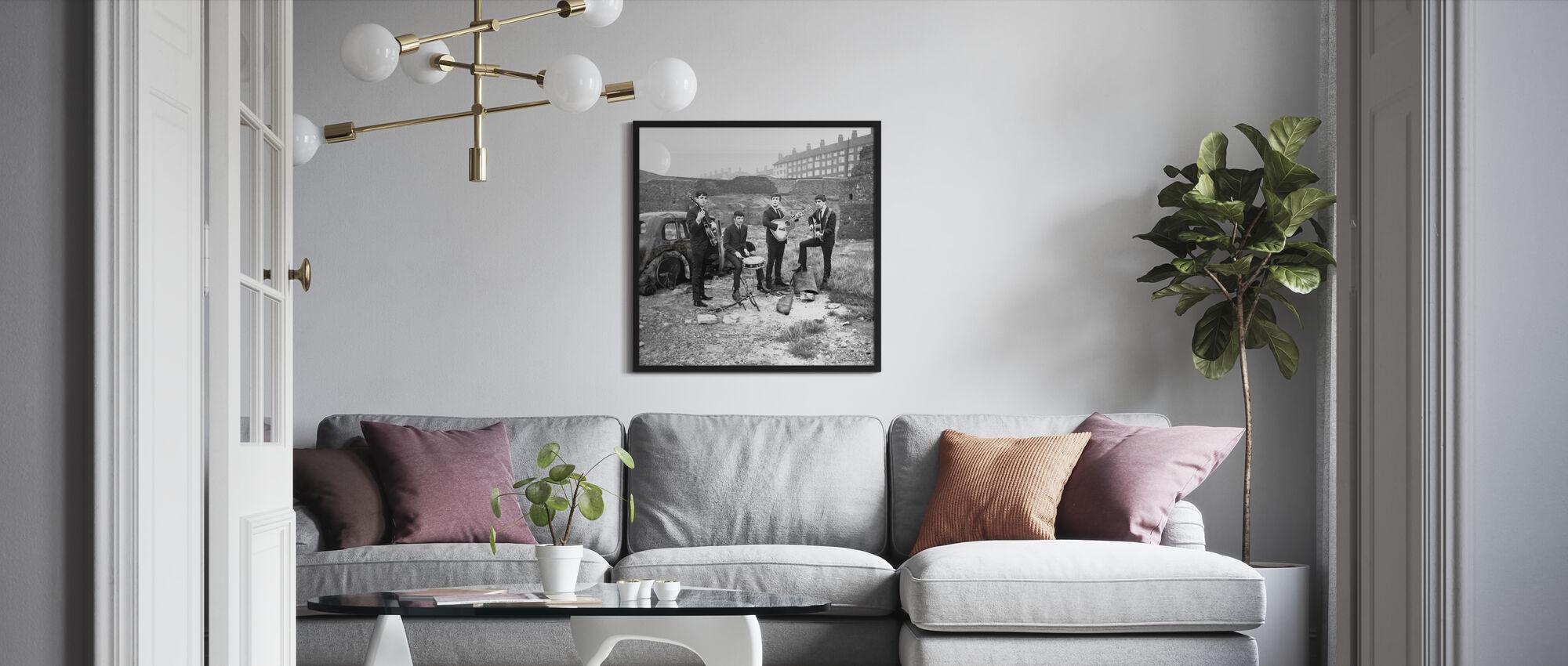 Les Beatles - Voiture abandonnée - Affiche - Salle à manger