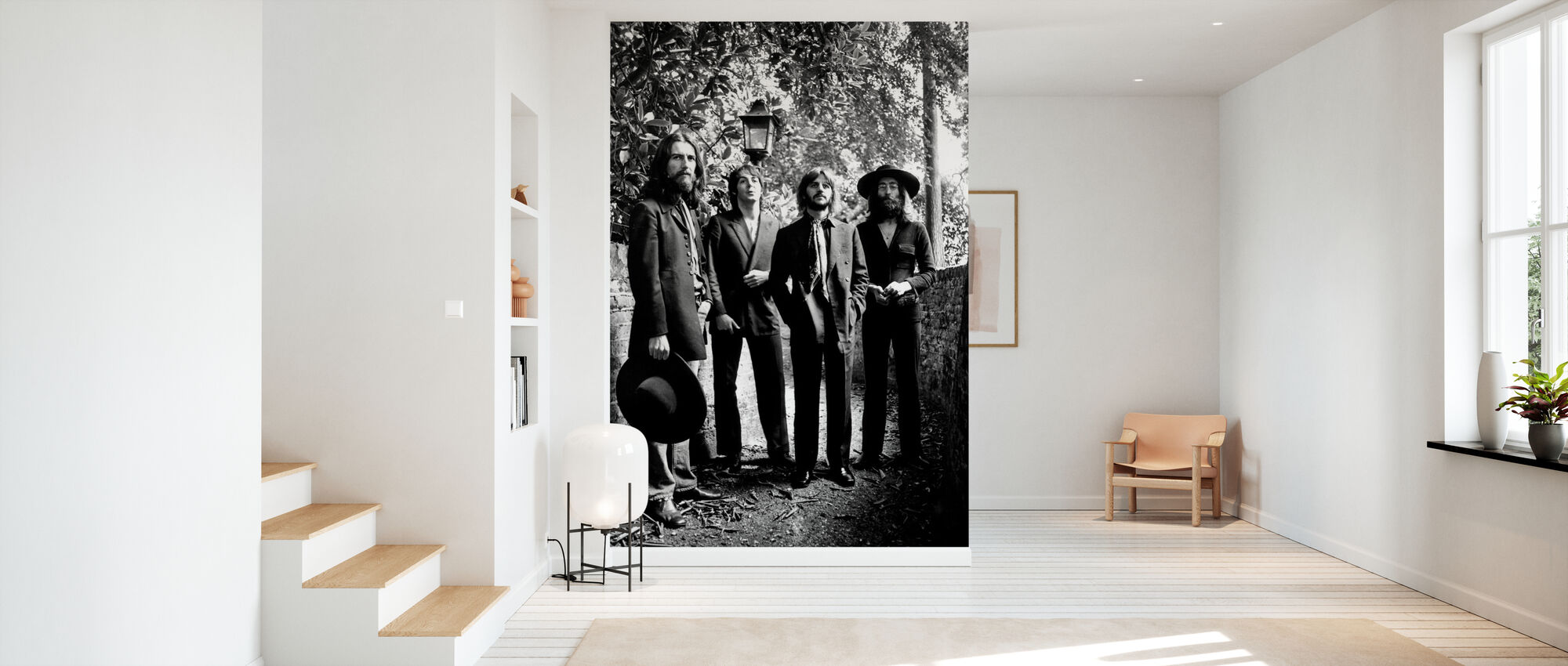 De Beatles - Laatste fotosessie 1969 - Behang - Gang