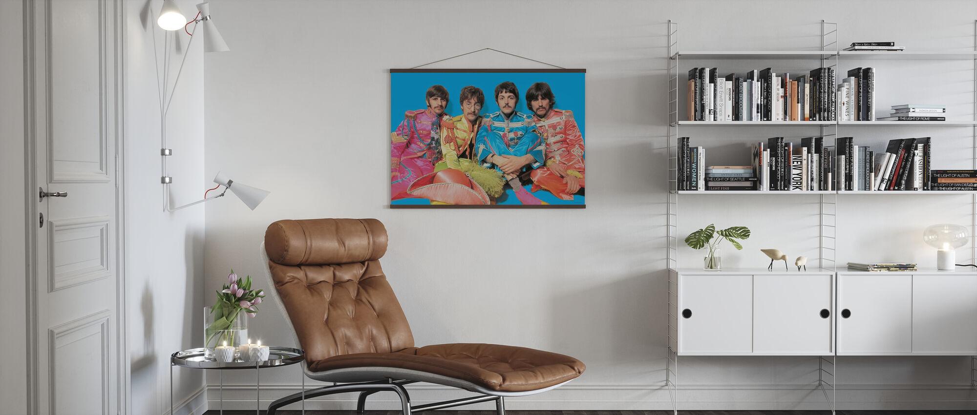 Beatles - Kersantti Pepperit Yksinäiset sydämet Club Band - Juliste - Olohuone