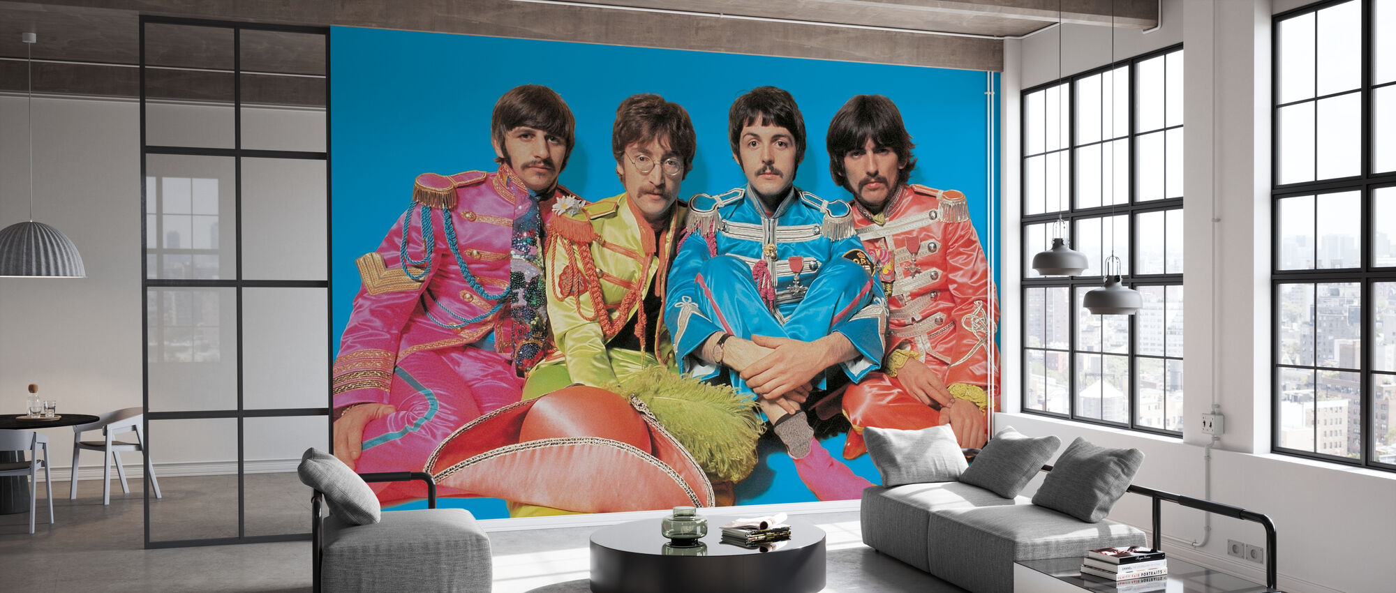 The Beatles - Sgt Peppers ensomme hjerter Club Band - Tapet - Kontor