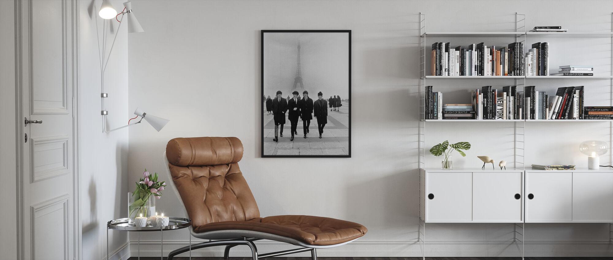 Beatles - Pariisissa - Kehystetty kuva - Olohuone