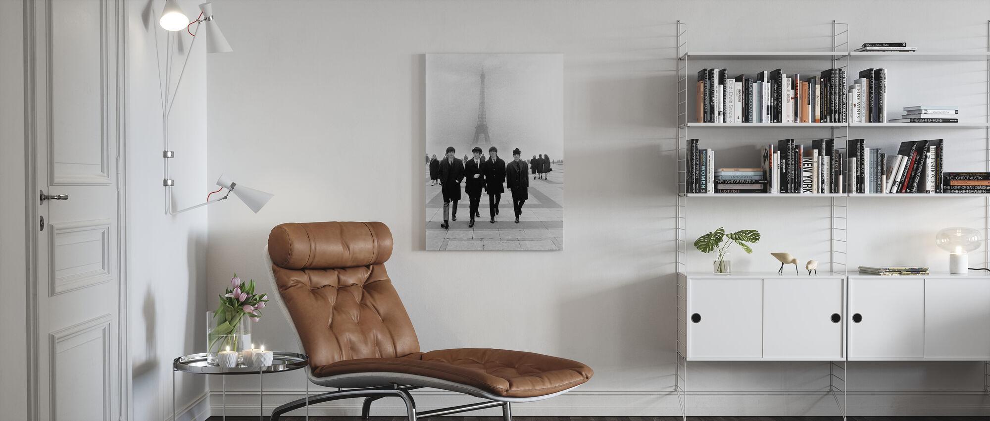 Les Beatles - Paris - Impression sur toile - Salle à manger