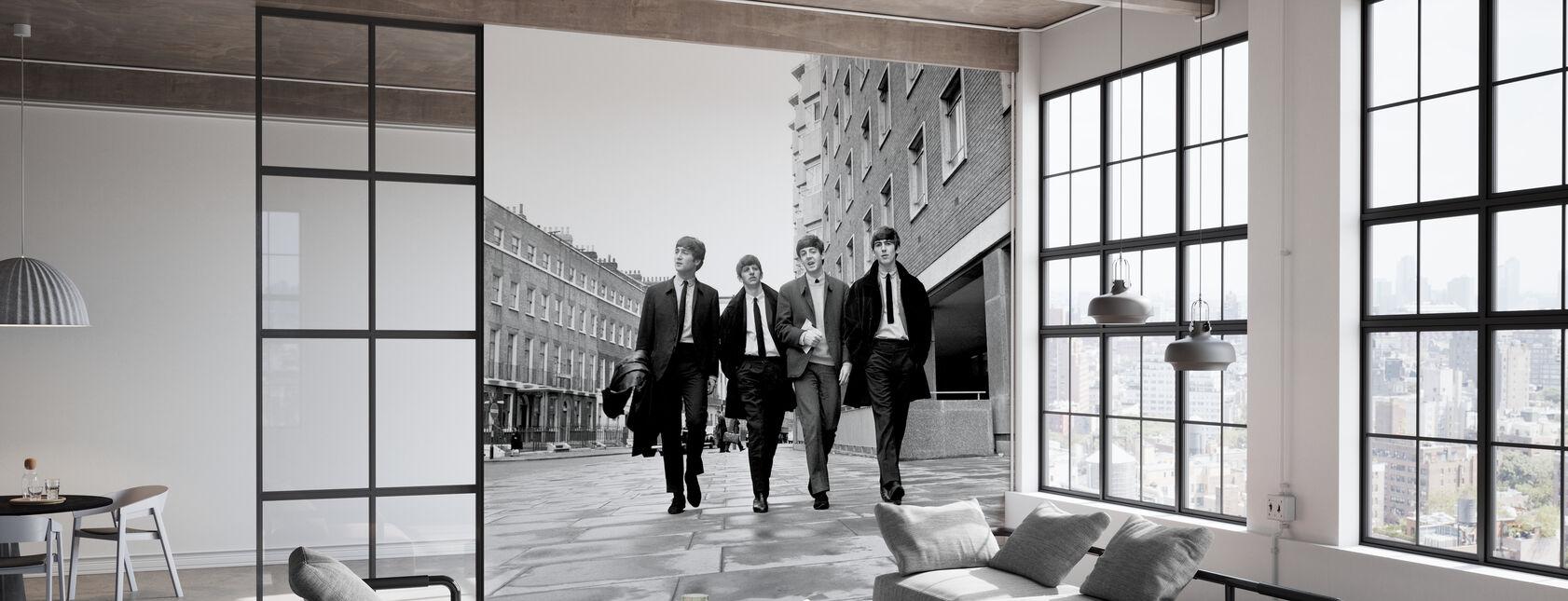 De Beatles - Trottoir - Behang - Kantoor