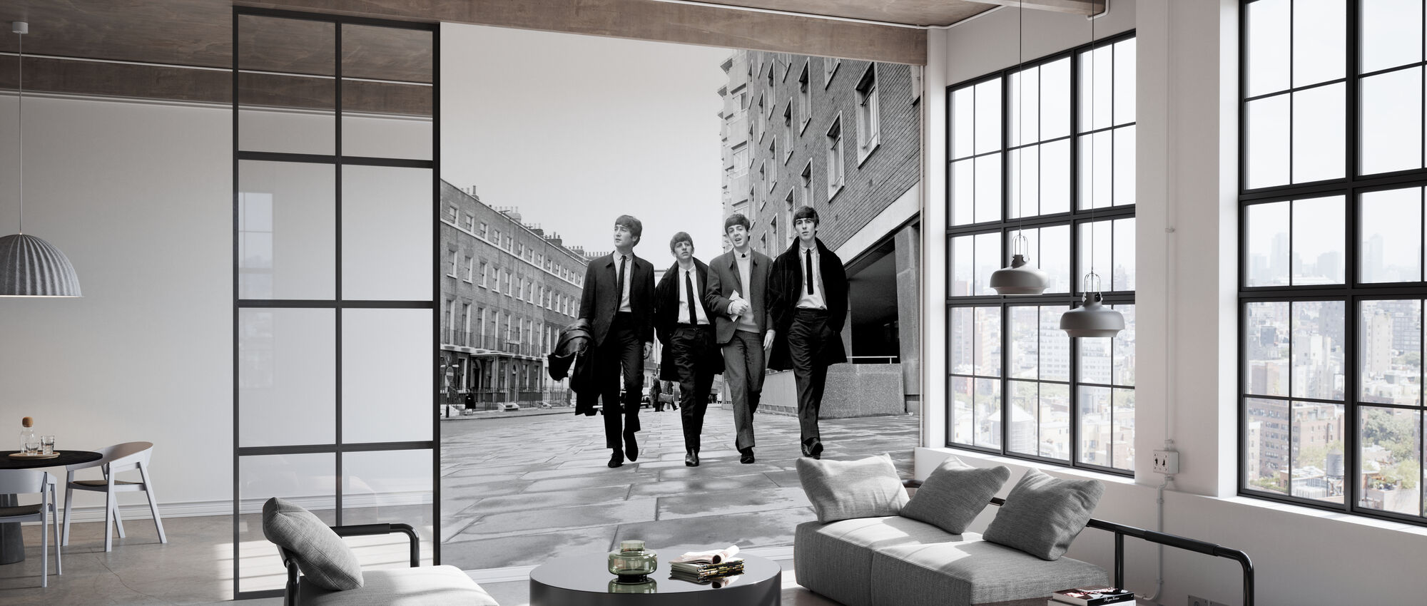 The Beatles - Sidewalk - Wallpaper - Office