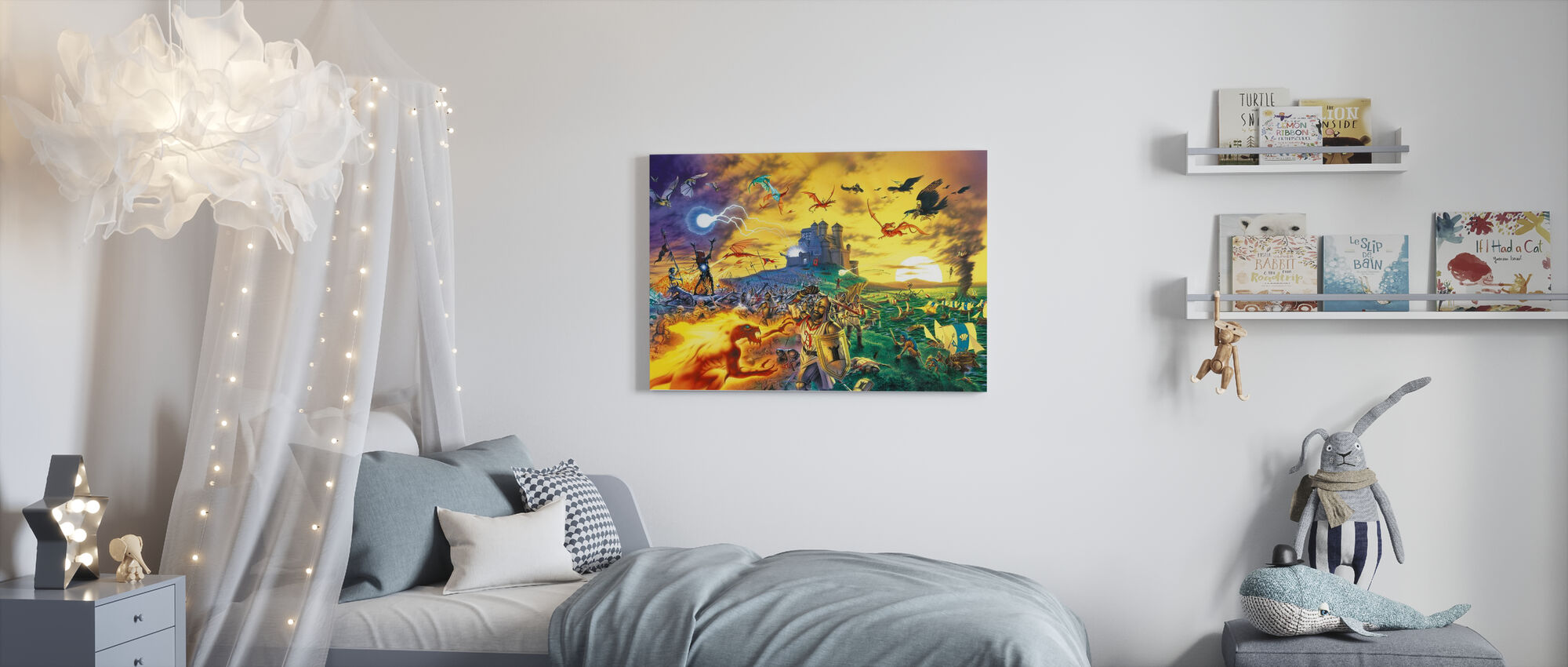 Fantasy Battle - Canvas print - Kids Room