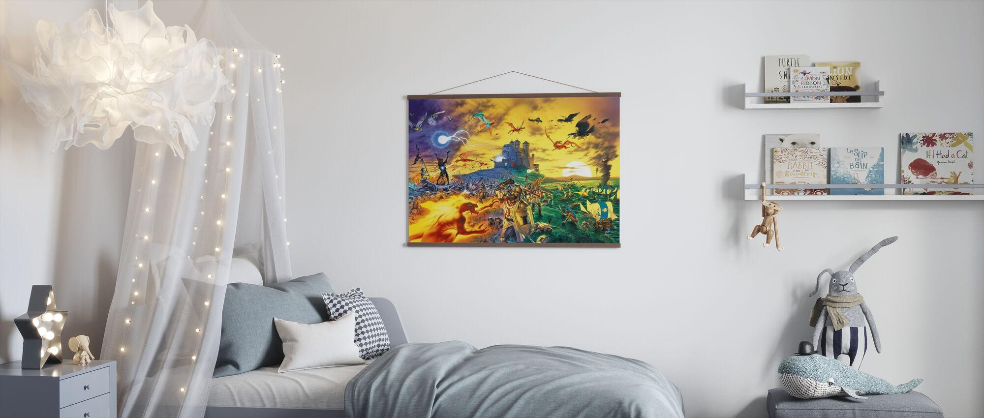 Fantasy-Schlacht - Poster - Kinderzimmer