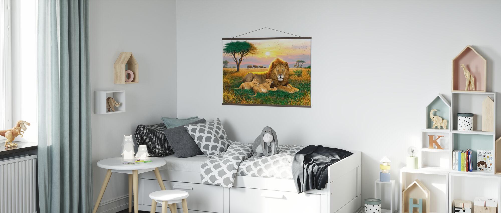 Koningen van de Serengeti - Poster - Kinderkamer