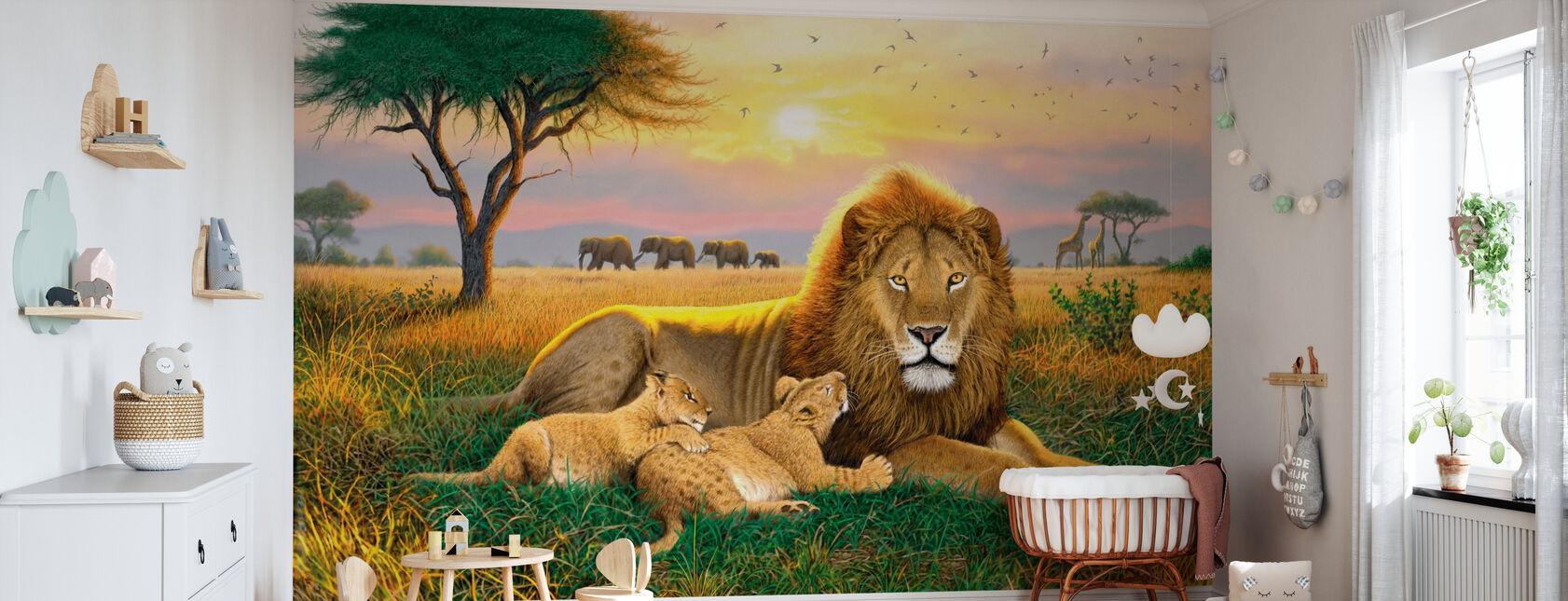 Rois des Serengeti - Papier peint - Chambre de bébé