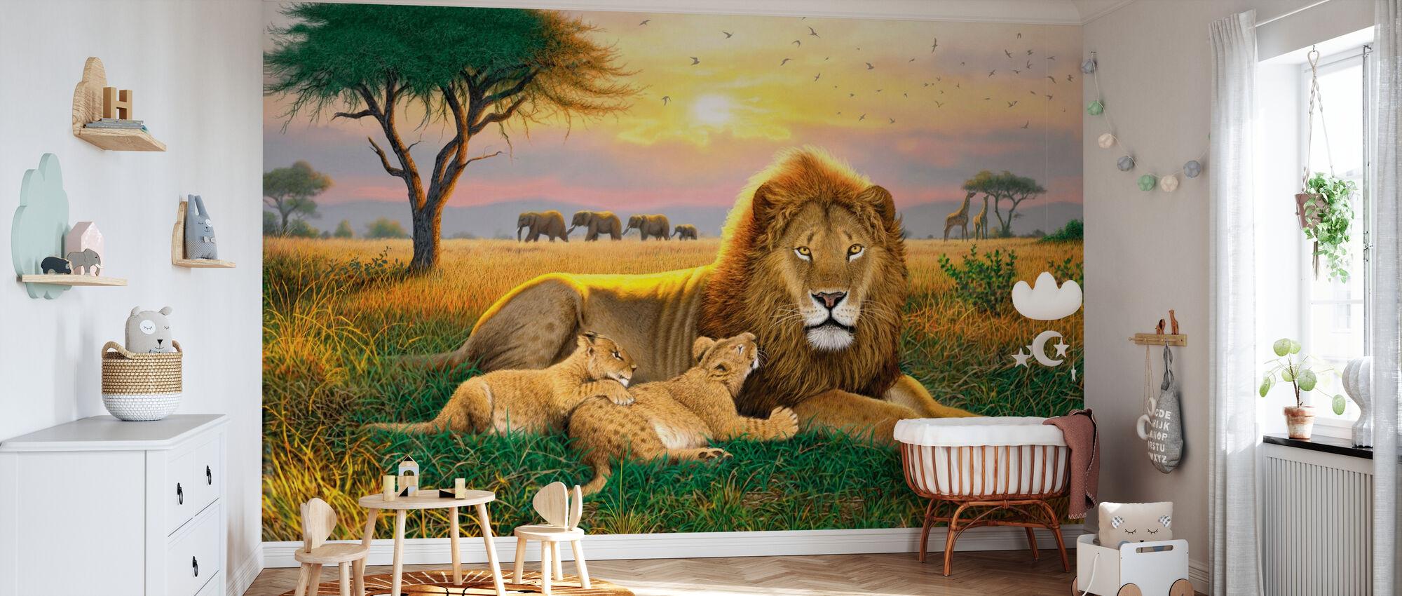 Koningen van de Serengeti - Behang - Babykamer