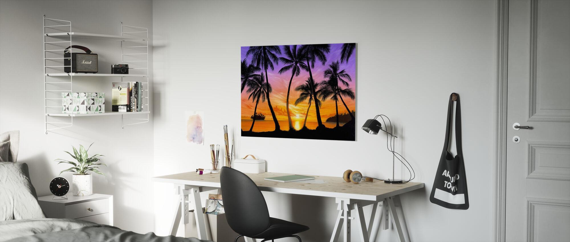 Palm Beach Sundown - Canvas print - Kids Room
