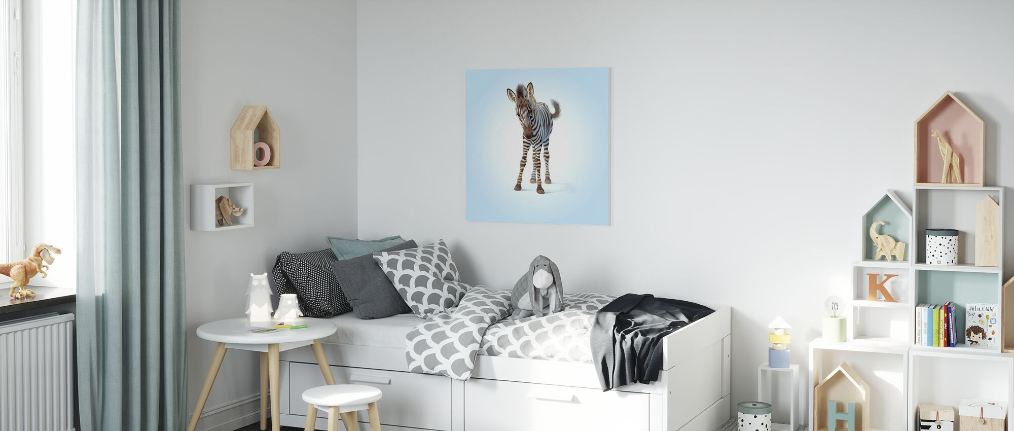 Zebra Veulen - Canvas print - Kinderkamer