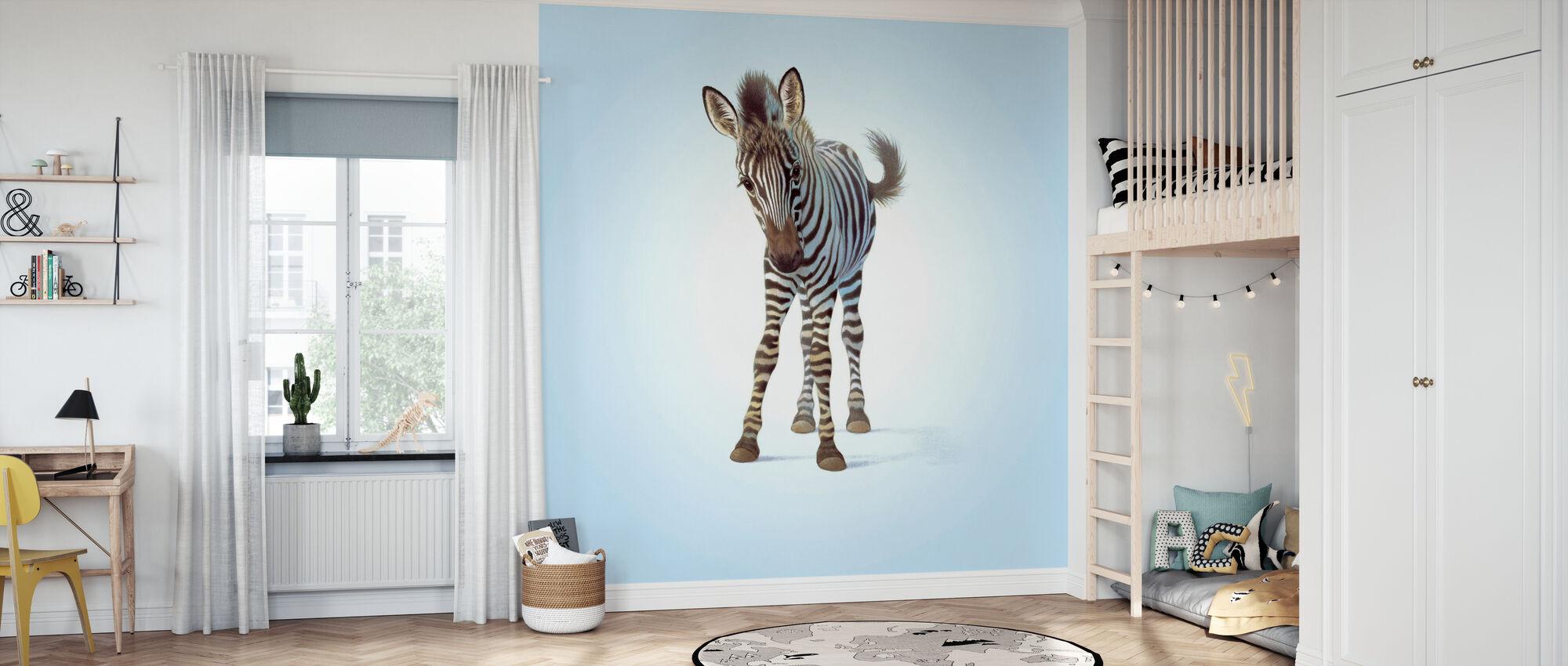 Zebra Foal - Wallpaper - Kids Room