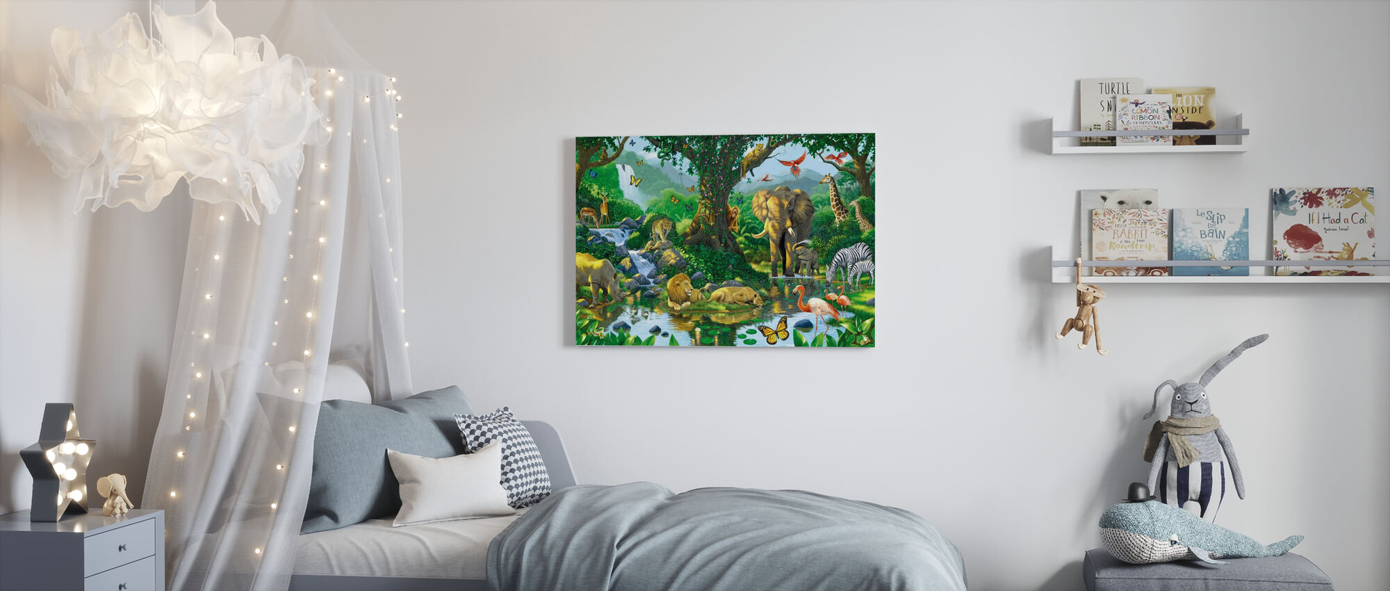 Jungle Harmony - Canvas print - Kids Room