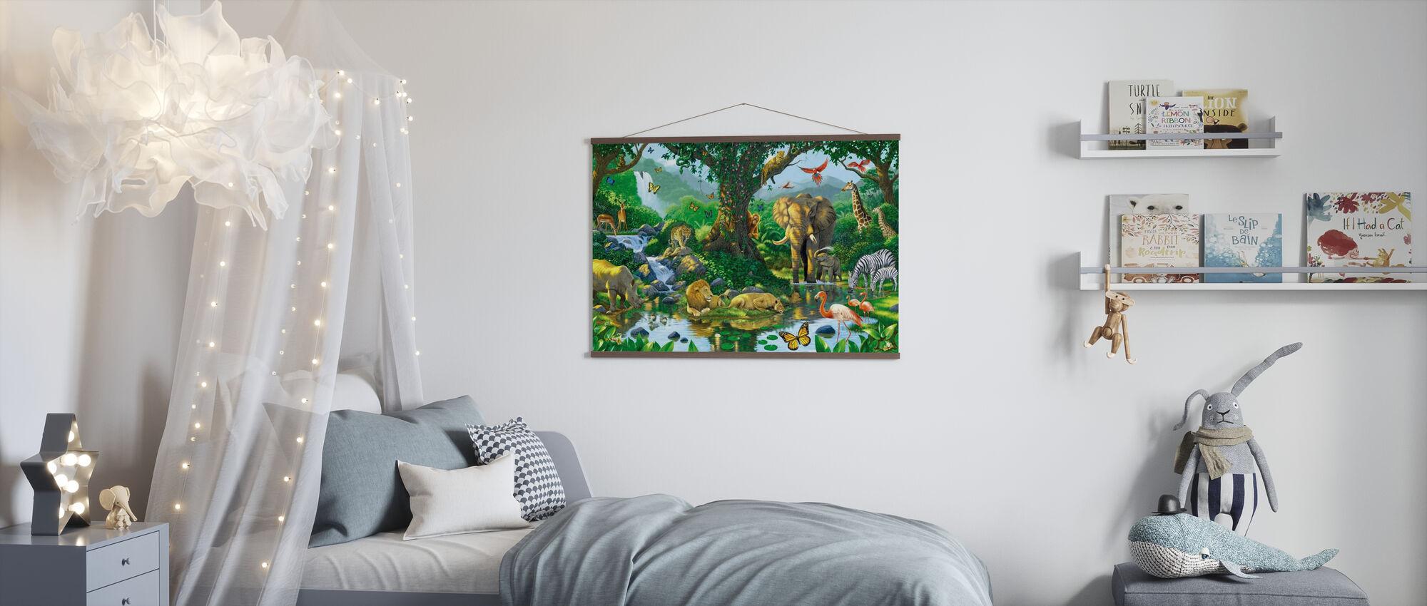 Jungle Harmony - Poster - Kids Room