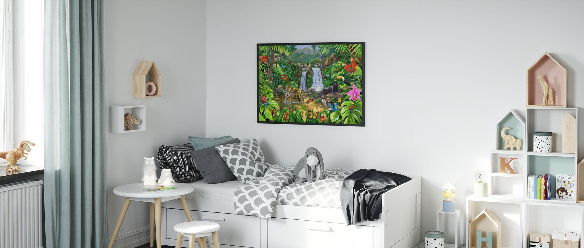 Regenwoud Harmonie - Ingelijste print - Kinderkamer