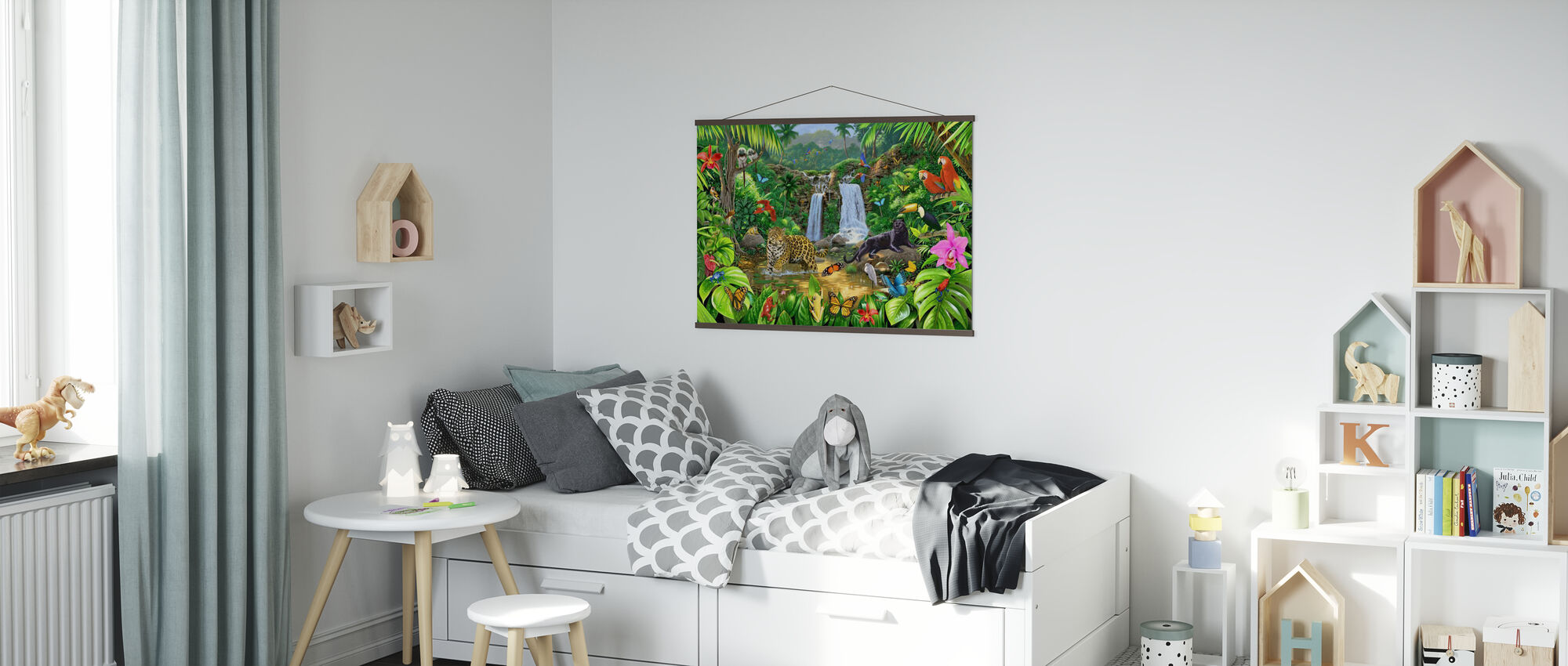 Rainforest Harmony - Poster - Kids Room