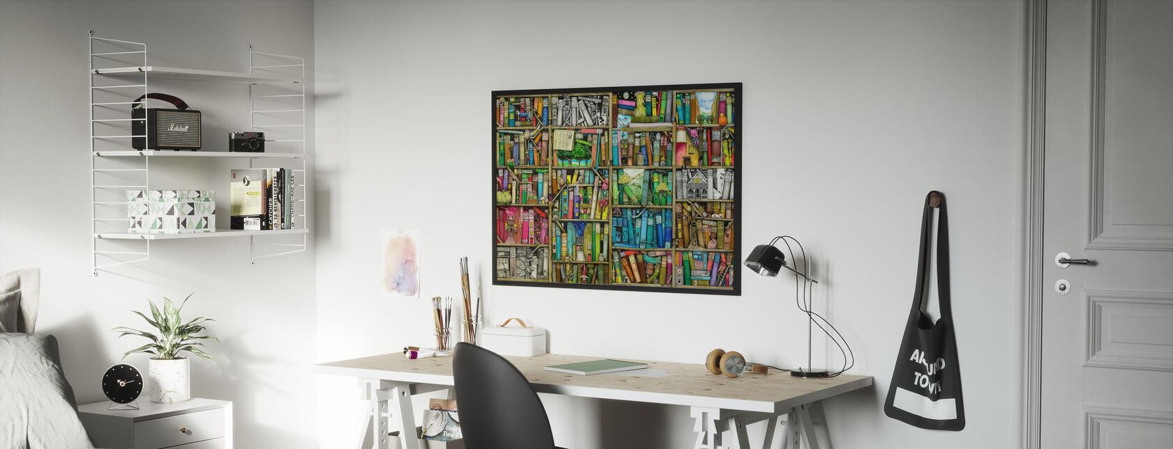 Fantasy Boekenplank - Poster - Kinderkamer