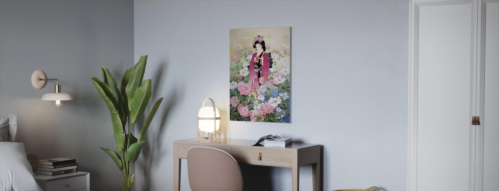 Syakuyaku - Canvas print - Office