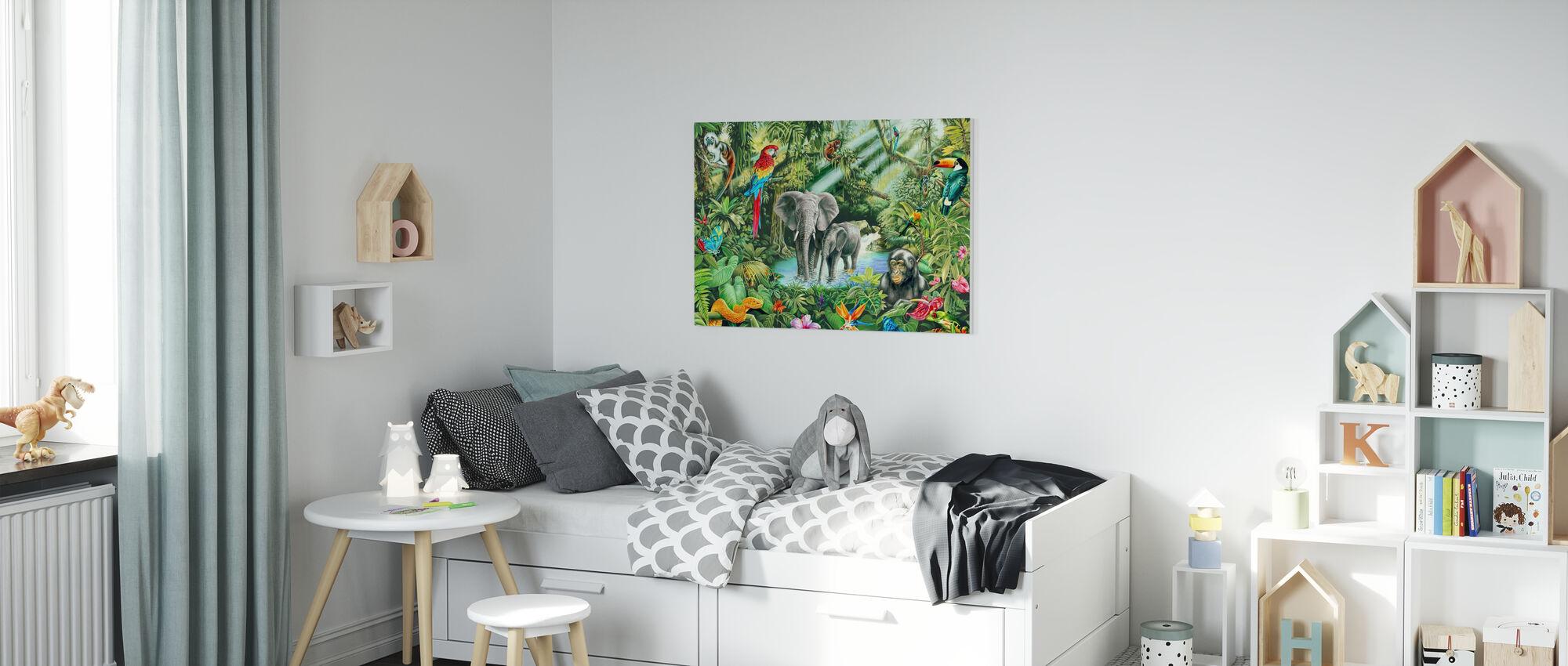 Jungle - Canvas print - Kids Room